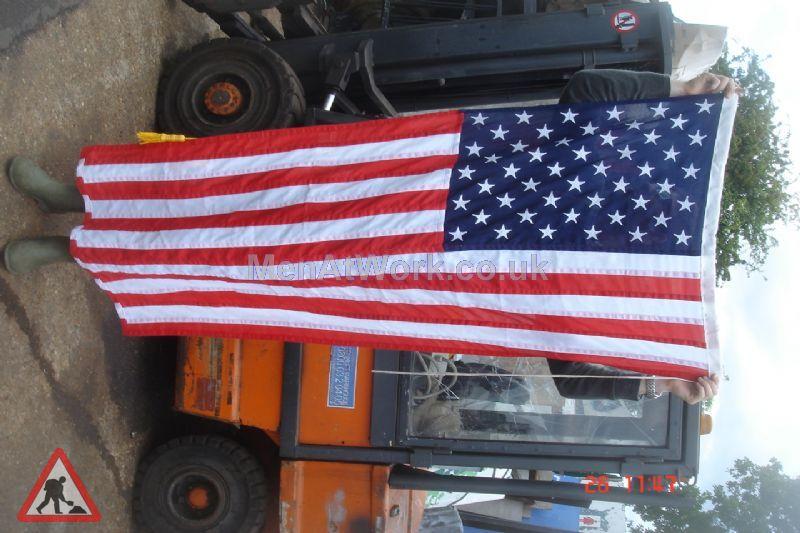 American Flag - 3′ x 6′ white edge