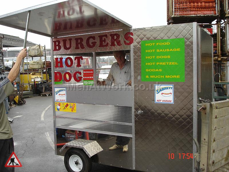 Fastfood Stand – Burgers / Hot Dog - Measurements 4ft W 8ft L 7'6 H