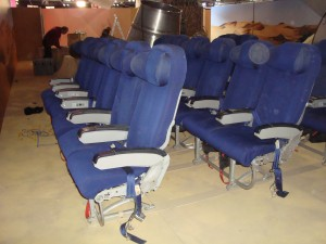 Airline Seats - Blue ( sideview )