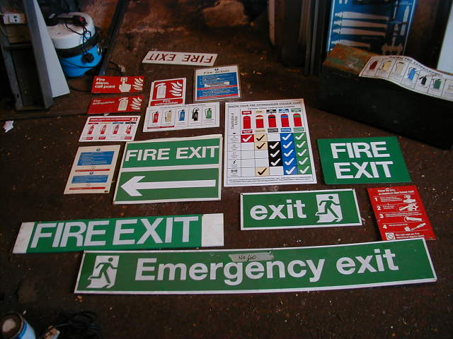 Assorted Fire Safety Signs - Assorted Signs