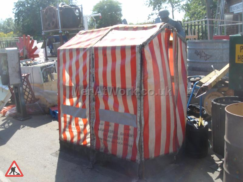 Roadworks / BT Tent - Red and White stripes