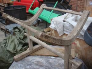 Wooden Barrel Stand - Close up