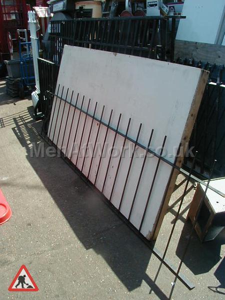 Black Metal Fence - Black metal fence (2)