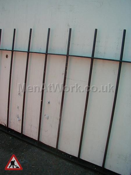 Black Metal Fence - Black metal fence
