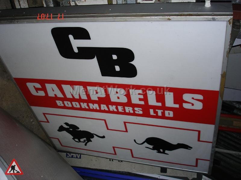 Bookmakers Light Box - Bookies Sign