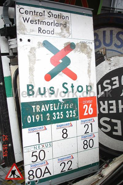Various Bus Stop Signs - Bus stop signs (17)