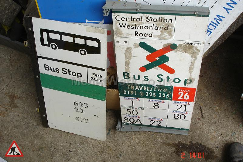 Various Bus Stop Signs - Bus stop signs (25)