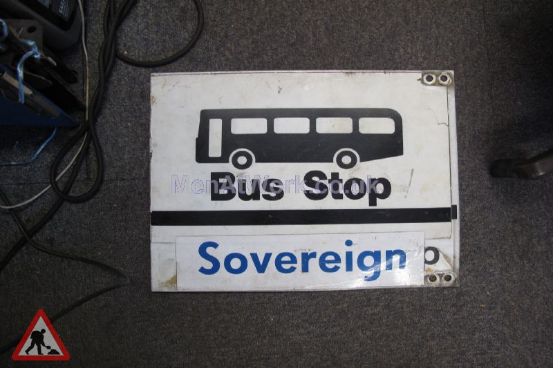 Various Bus Stop Signs - Bus stop signs (4)