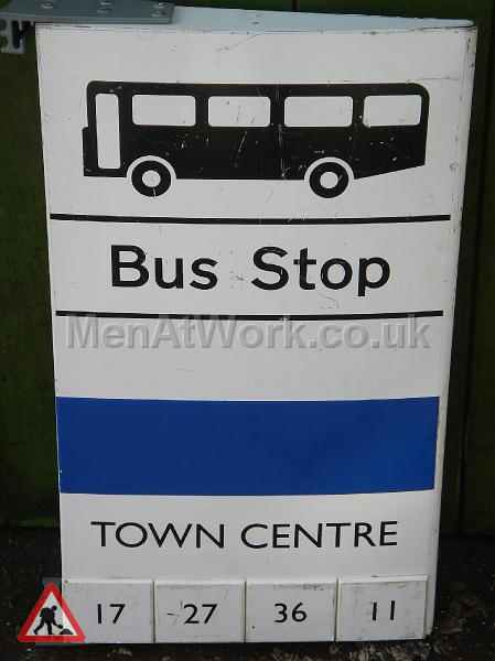Various Bus Stop Signs - Bus stop signs (6)