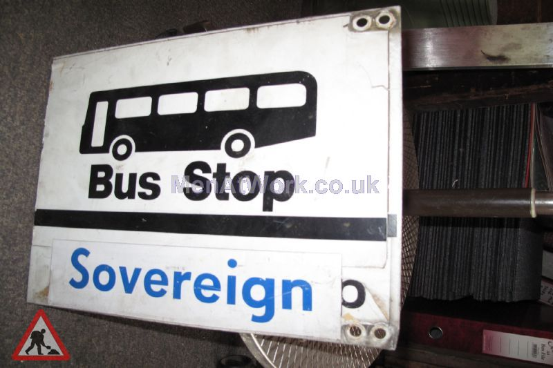 Various Bus Stop Signs - Bus stop signs