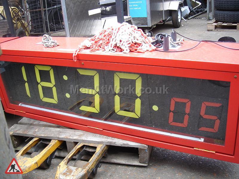 Underground digital clock - CLOCK