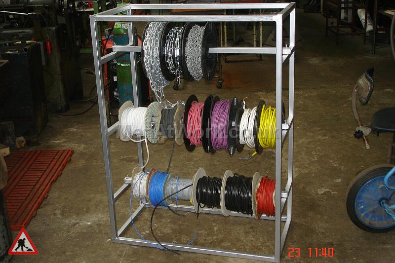 Assorted Cables and Drums - Cable Reel Holder