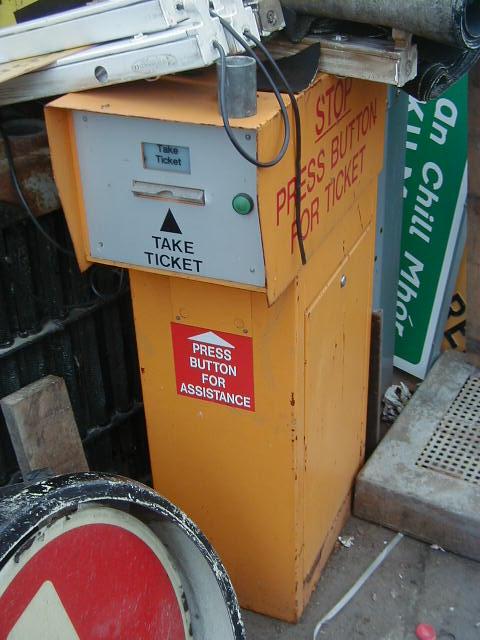Car Park Barrier - Car Park Ticket Dispensor Front view