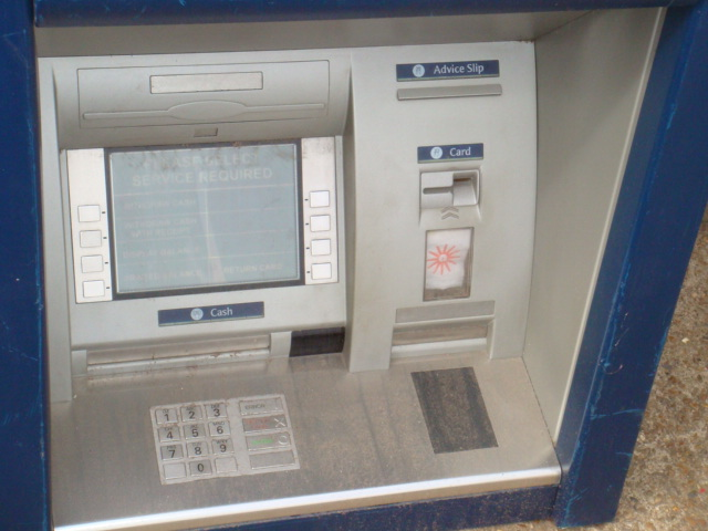 Cash Machine – Unbranded - Close up