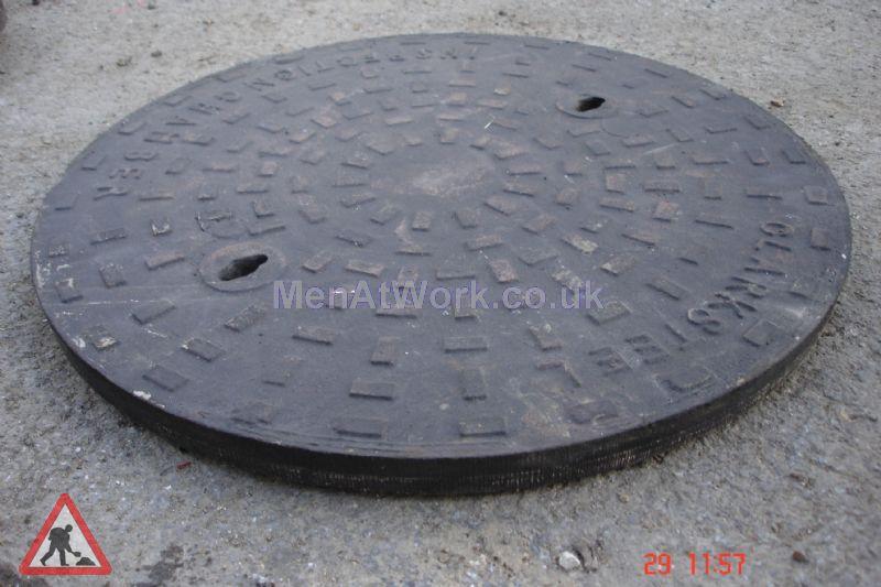 Man hole cover - Circular 'Clarks' man hole