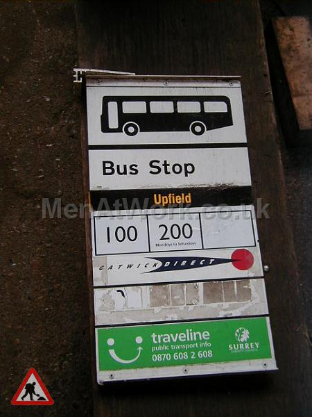 Country Bus Stop and Signs - County bus stop flag