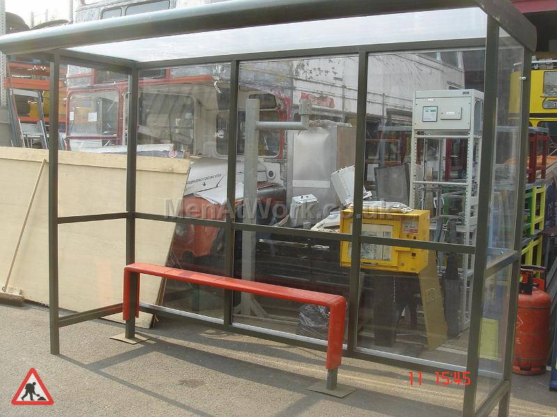Clear Bus Shelter - Front View
