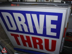 Drive Through Light Box - Drive Thru
