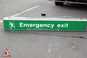 Airport Emergency Exit Sign - Emergency Exit