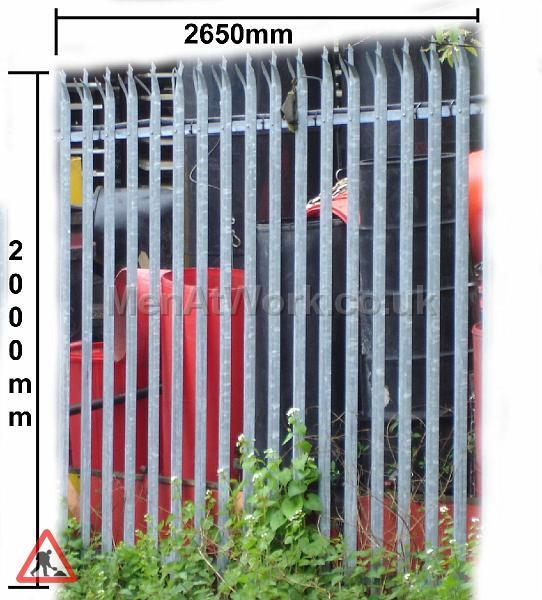 Palisade Style Security Fence - FENCE PALASADE MEASUREMENTS