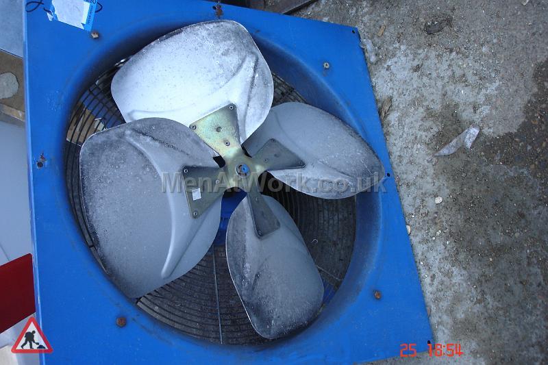 Fan With Blue Surround - Fan with blue surround