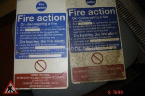 Fire Action Sign - Fire Action Sign