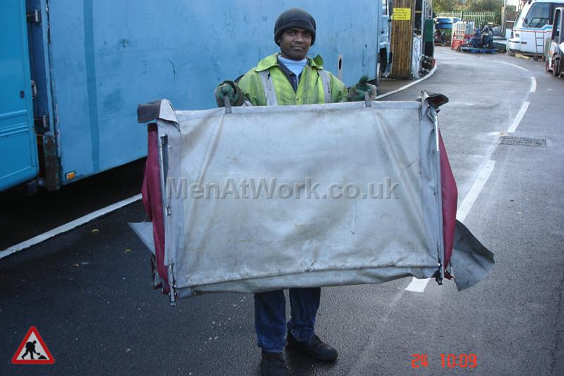 Modern Roadworks / BT Hut - Folding red and white tent (3)