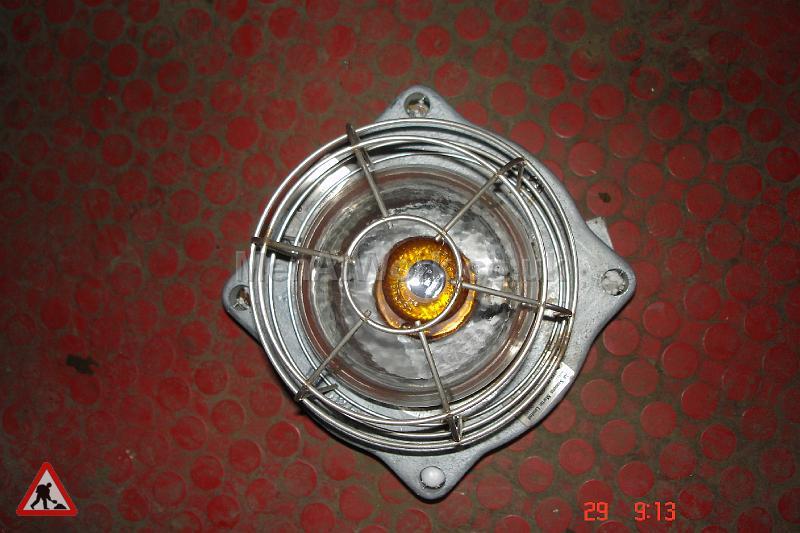 Caged Industrial Light - Framed Industrial Light