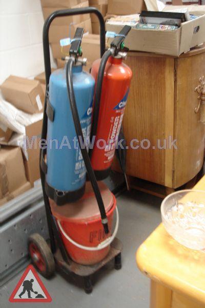 Garage Type Fire Trolley - Garage Type Fire Trolley