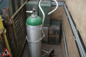 Gas Bottle and Trolley - Gas Bottle and Trolley