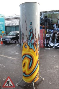 Graffitied Ducting - Graffited ducting