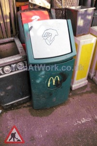 Mc Donalds Bin - Green Flip Top