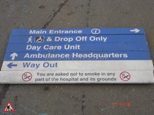 Hospital Entrance Sign - Main Entrance