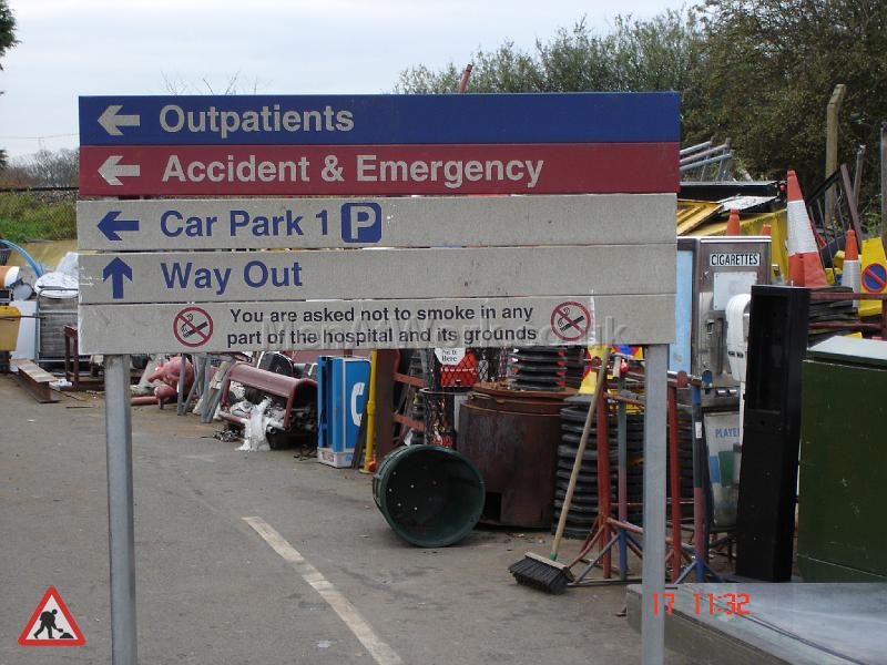 Hospital Directions Sign and Stand - Full view