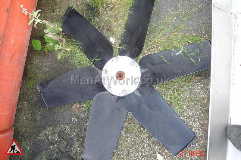 Large Black Fan Blade - Large Black Fan Blade