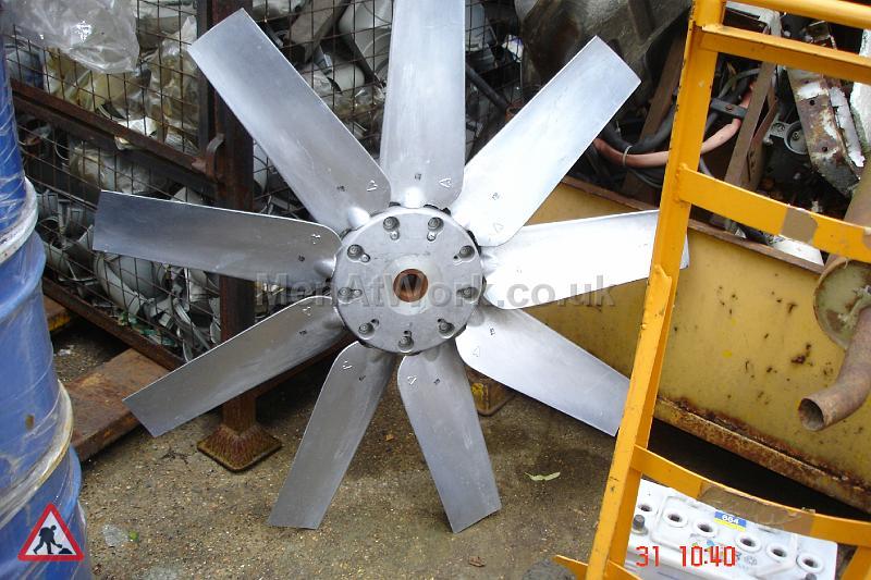 Large Metallic Fan Blade - Large Metallic Fan