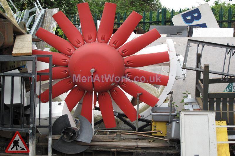Large Red Fan - Large Red Fan (2)