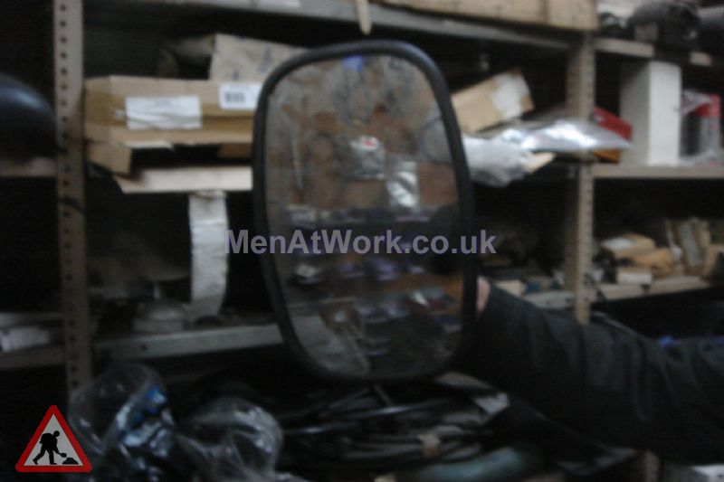 Bus Wing Mirror And Arms - Large Wing Mirror