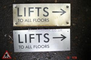 Lift Direction Signs - Lift direction signs
