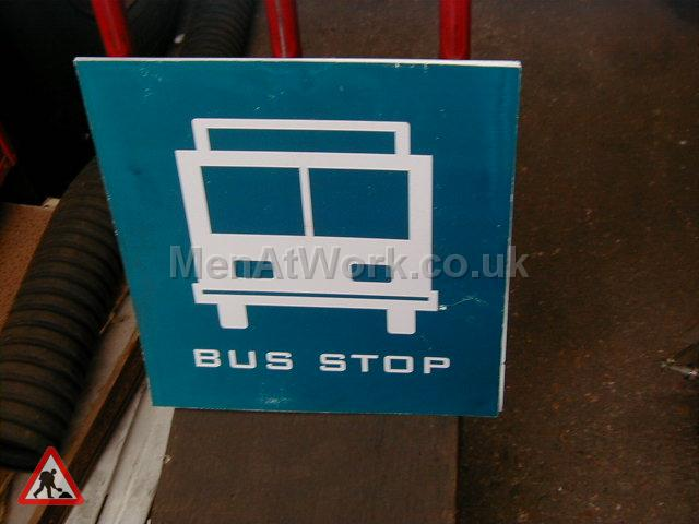 Period Bus Stop Signs - Made up bus stop flag