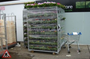Mobile Flower Rack - Mobile Flower Rack