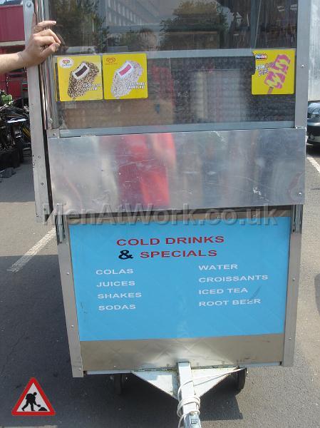 Mobile Food Vendor – Hot Dog Stand - Sign Close-up