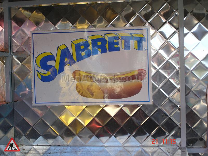 Mobile Food Vendor – Hot Dog Stand - Sabrett Sign with Hot Dog