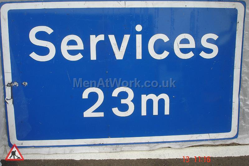 Men At Work Motorway Signs