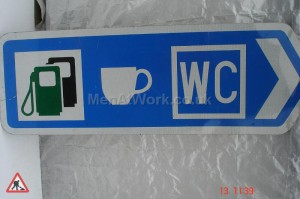 Motorway signs - Motorway sign – services – 5ft wide x1ft 9indown