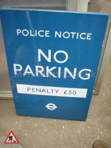 No parking sign- underground - NO PARKING SIGN