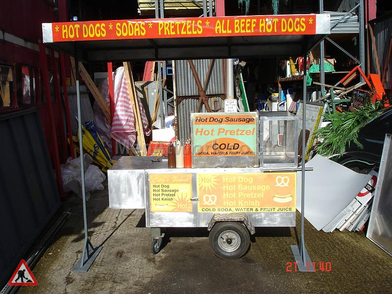 New York Style Hot Dog Stand - New York Style Food Stand Full view