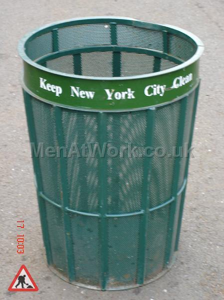 Metal Street Bins - New York Style