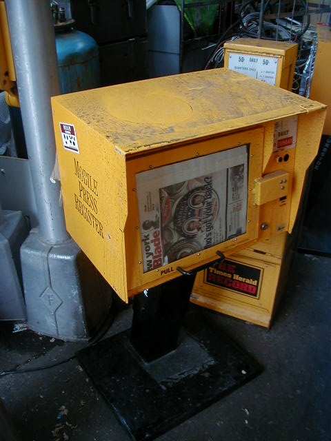 Newspaper Stands - Yellow single stand