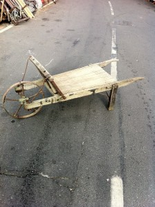 Old wooden wheelbarrow - Old wooden wheelbarrow